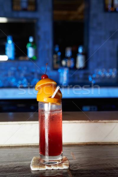 Koktél poháralátét bár üveg hotel Stock fotó © monkey_business