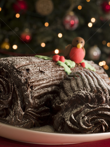 Chocolate Yule Log Stock photo © monkey_business