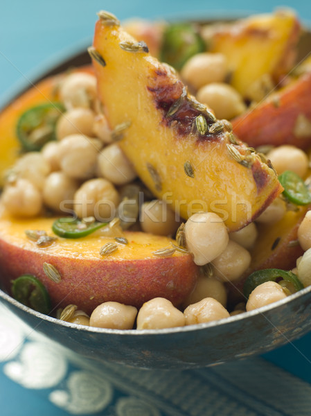 Bowl of Chick Pea and Peach Salad Stock photo © monkey_business