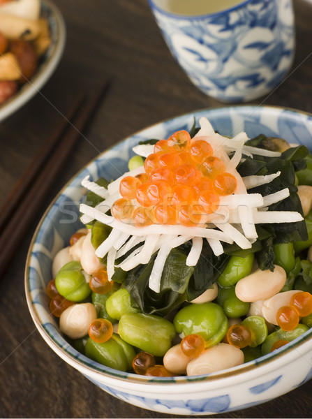 Broad Bean Daikon and Salmon Roe Stock photo © monkey_business