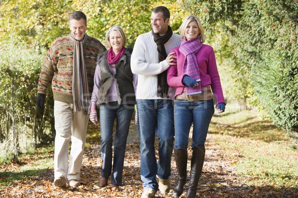 Multi-generation family enjoying autumn walk Stock photo © monkey_business