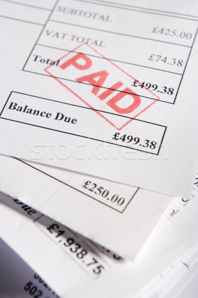 Paid Invoices Stock photo © monkey_business