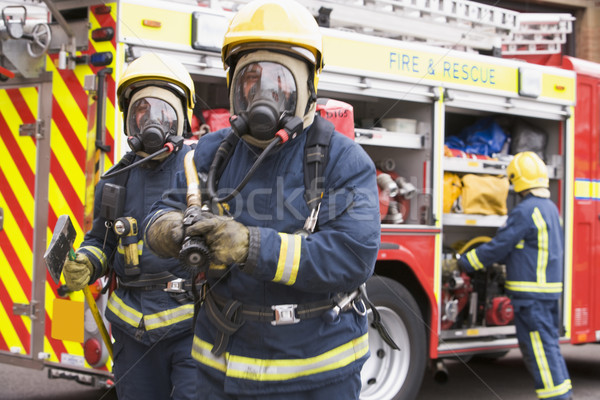 Firefighters in protective workwear Stock photo © monkey_business