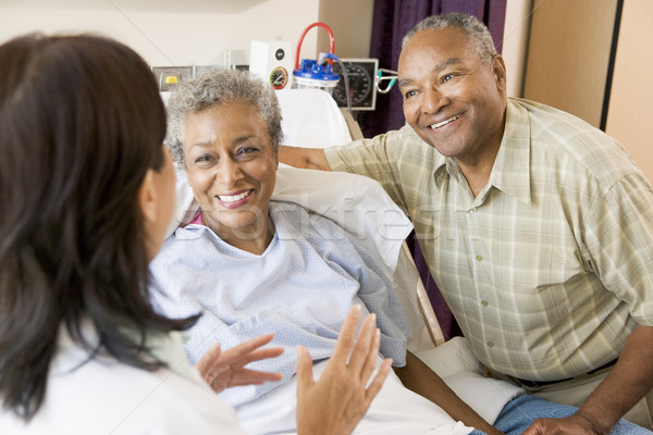 Nurse Talking To Senior Couple Stock photo © monkey_business