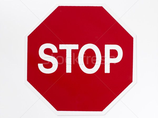 Stop signe autoroute rouge couleur panneau routier Photo stock © monkey_business