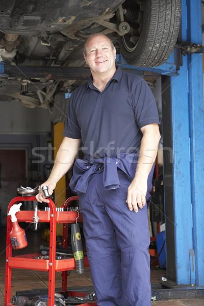 Mechaniker arbeiten Auto Business Mann Person Stock foto © monkey_business