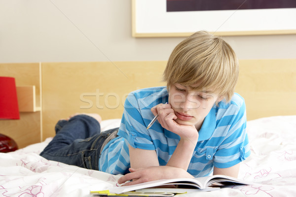 Escrita diário quarto livro cara Foto stock © monkey_business