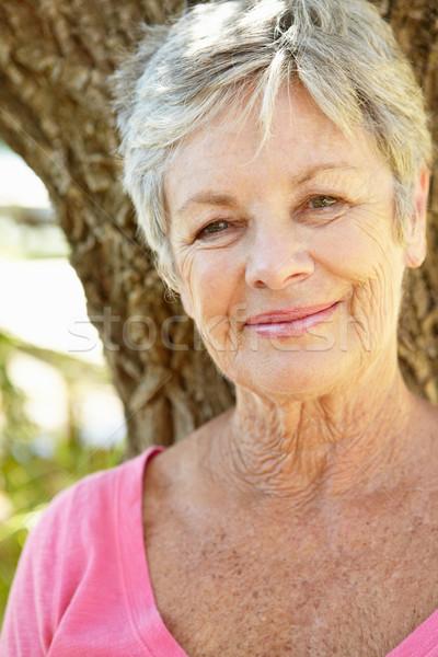 Stock photo: Portrait of senior woman