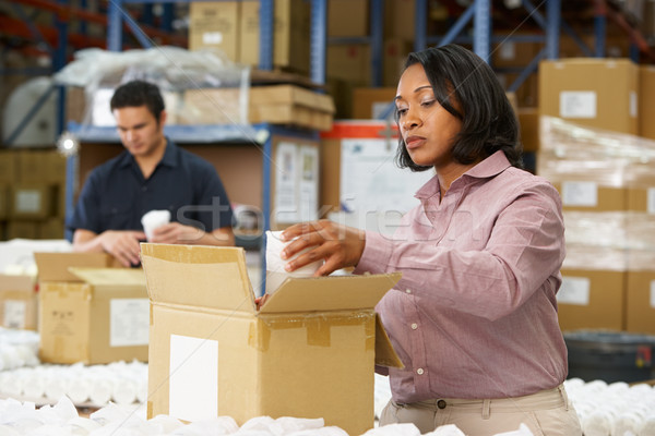 Manager Checking Goods On Production Line Stock photo © monkey_business