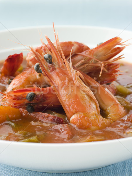 Bowl of Creole Shrimp Gumbo Stock photo © monkey_business