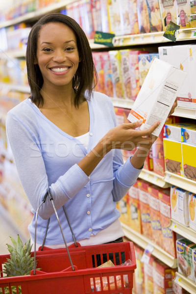 Young woman grocery shopping Stock photo © monkey_business