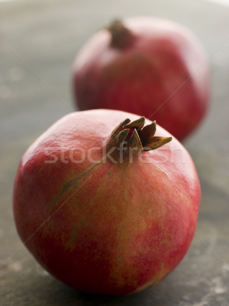 Two Whole Pomegranates Stock photo © monkey_business