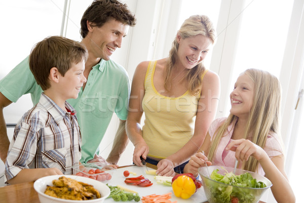 Stock photo: Family Preparing meal,mealtime Together