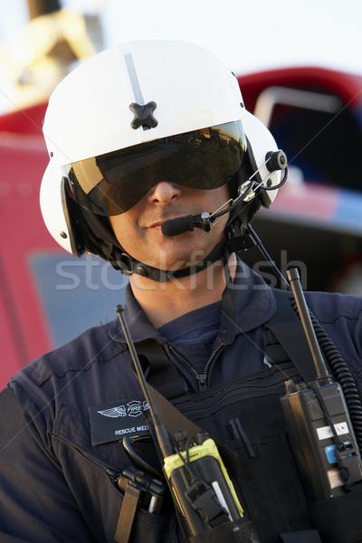肖像 救急医療隊員 立って 病院 小さな 笑みを浮かべて ストックフォト © monkey_business