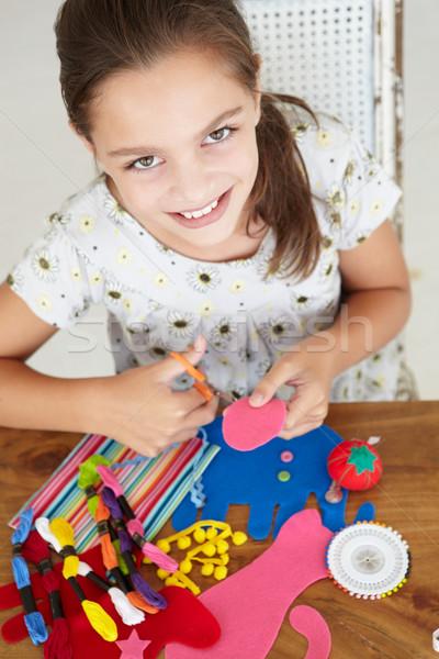 Fiatal lány lány fiatal tanul személy mosolyog Stock fotó © monkey_business