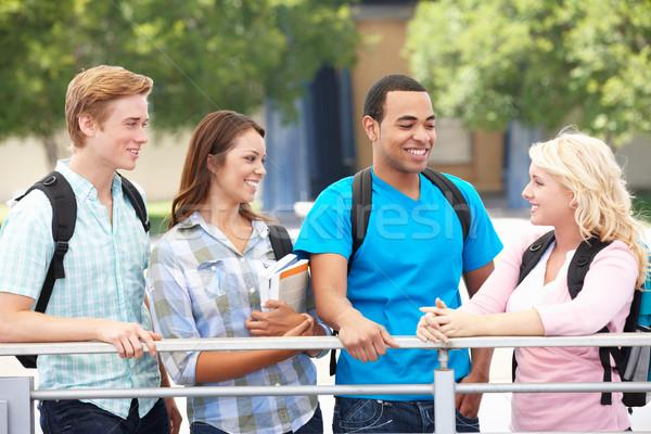 Estudante grupo ao ar livre livros mulheres educação Foto stock © monkey_business