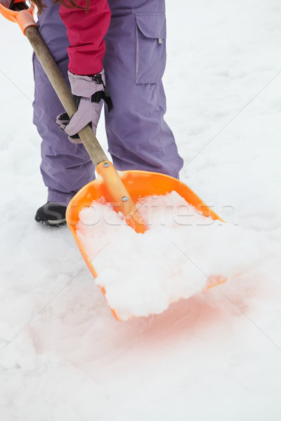 Close Up Of Teenage Girl Shovelling Snow From Path Stock photo © monkey_business