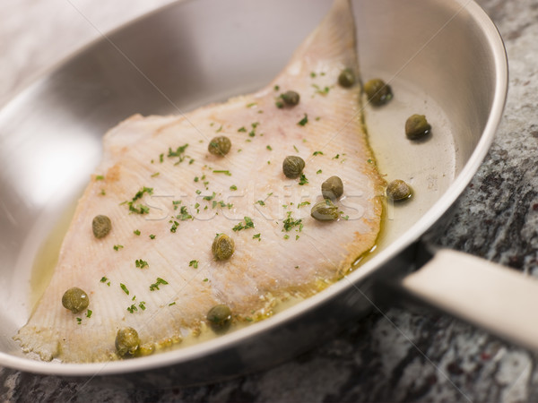 Pan Fried Wing of Skate with Caper Butter Stock photo © monkey_business