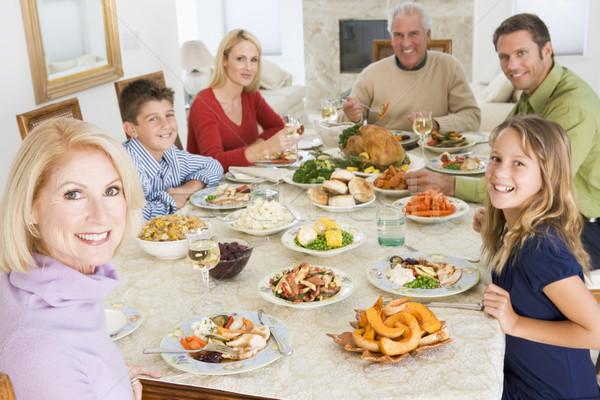 Сток-фото: семьи · вместе · Рождества · обеда · продовольствие