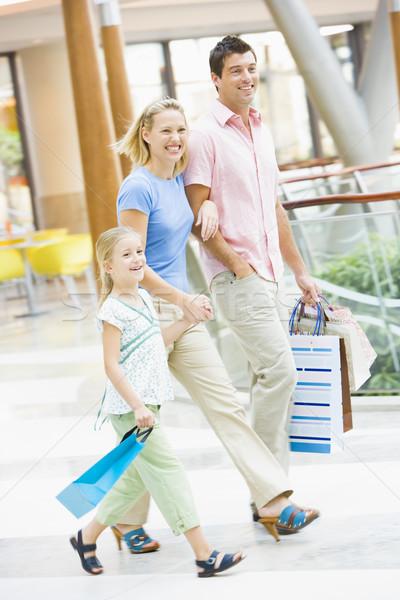 Stock fotó: Család · pláza · hordoz · bevásárlóközpont · férfi · boldog