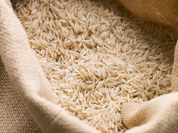 Basmati arroz saco comida grupo branco Foto stock © monkey_business