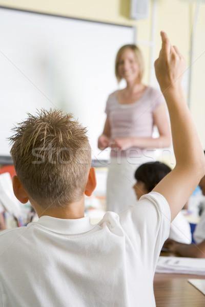 Stockfoto: Leraar · onderwijs · school · klasse · vrouw · hand