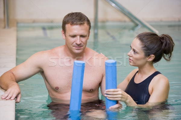 Сток-фото: инструктор · пациент · воды · терапии · человека · больницу