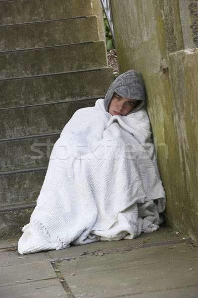 Homeless Man Sleeping Rough Stock photo © monkey_business