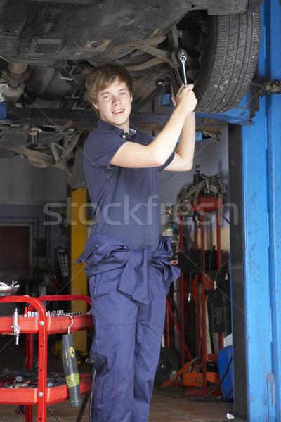 Mécanicien travail voiture homme personne Homme Photo stock © monkey_business