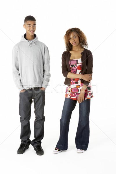 Studio Portrait Of Teenage Couple Stock photo © monkey_business