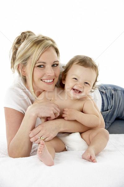 ストックフォト: スタジオ · 肖像 · 母親 · 小さな · 赤ちゃん · 少年