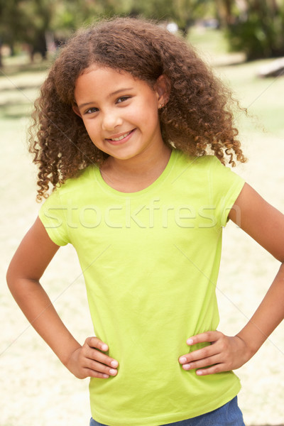 Portrait Of Happy Young Girl In Park Stock photo © monkey_business