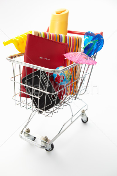 Trolley full of items for holiday Stock photo © monkey_business