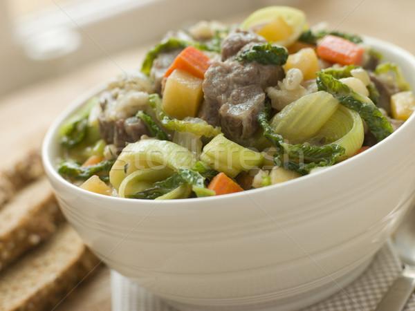 Bowl of Irish Stew with Soda Bread Stock photo © monkey_business