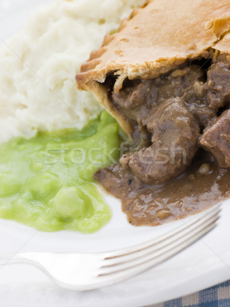 Steak Pie and Mash with Mushy Peas Stock photo © monkey_business