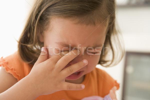 Fiatal lány bent sír baba gyermek szomorú Stock fotó © monkey_business