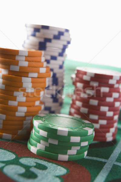 Stack of chips on roulette table Stock photo © monkey_business