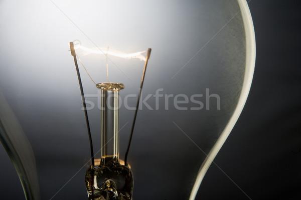 Megvilágított villanykörte erő elektromosság stúdió villanykörte Stock fotó © monkey_business
