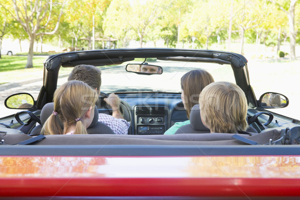 Stock photo: Family in convertible car