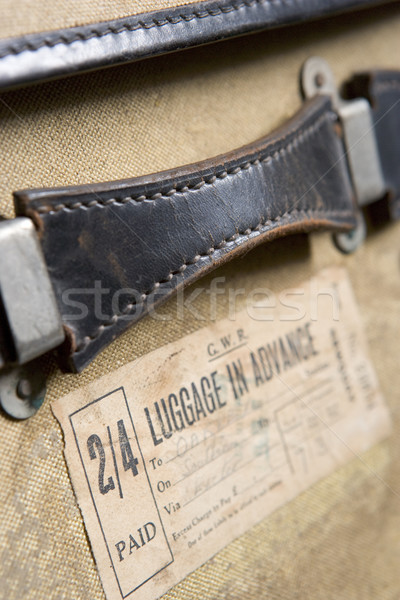Close Up Of  Old-Fashioned Suitcase Stock photo © monkey_business