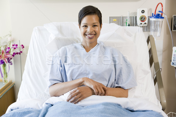 Woman Sitting In Hospital Bed Stock photo © monkey_business