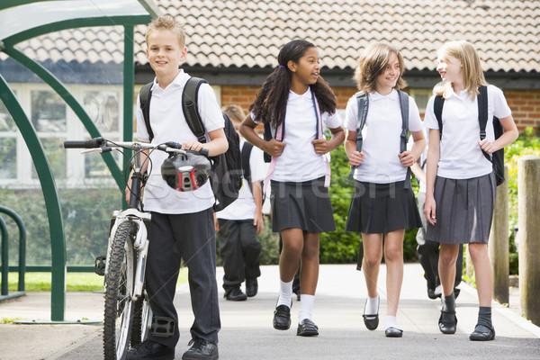 Stockfoto: School · gelukkig · onderwijs · studenten · meisjes