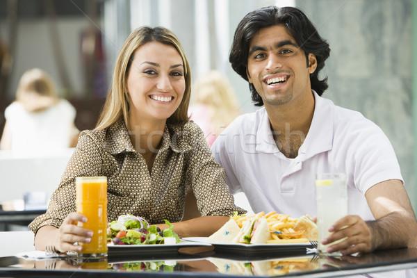 Couple enjoying meal at cafe Stock photo © monkey_business