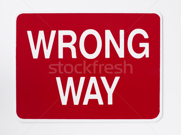 Wrong Way Road Sign Stock photo © monkey_business