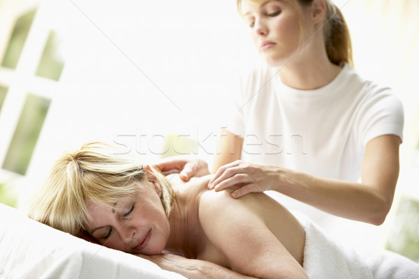 Massage Homme personne souriant Photo stock © monkey_business