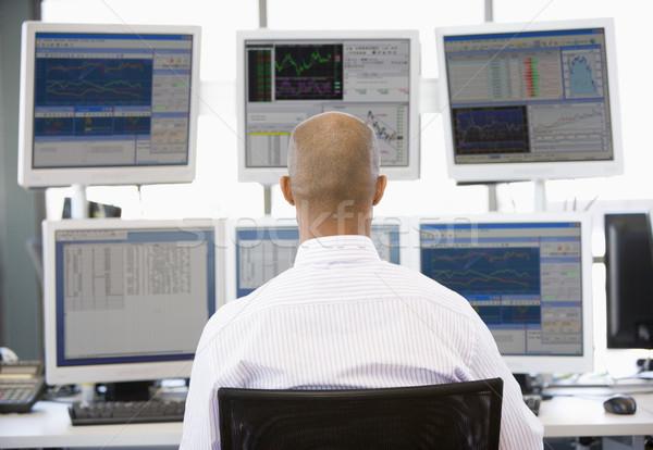 在庫 トレーダー 見える 複数 ビジネス 技術 ストックフォト © monkey_business