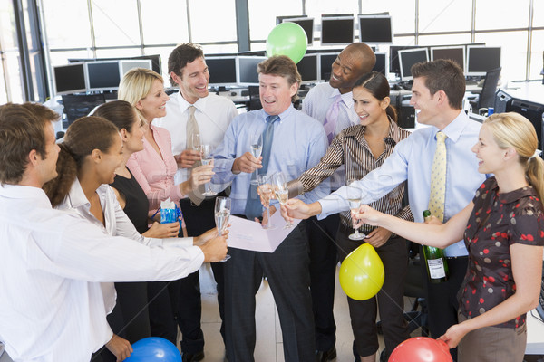 Stock Traders Celebrating In The Office Stock photo © monkey_business