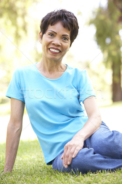 Stock photo: Portrait Of Smiling Senior Woman Outdoors