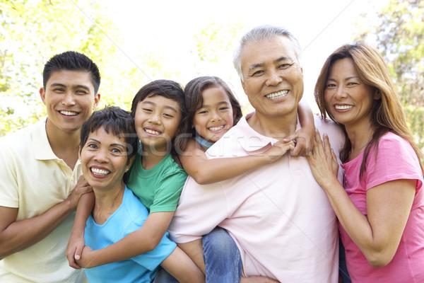 Сток-фото: портрет · расширенной · семьи · группа · парка · ребенка · саду