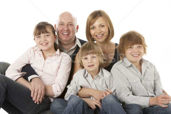 Famille groupe séance studio enfant Photo stock © monkey_business